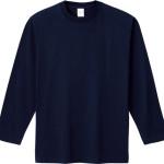 00101-LVC 5.6オンス ヘビーウェイト長袖リブ無しカラー Tシャツ